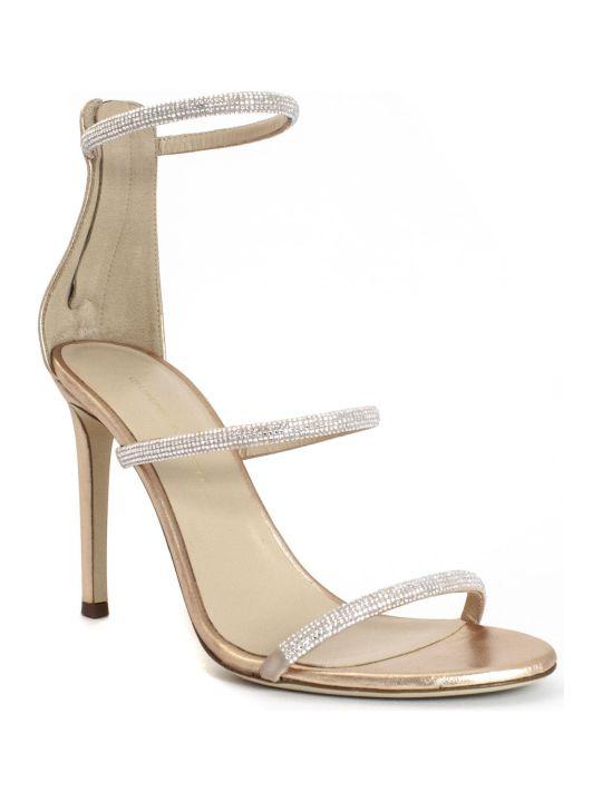 Giuseppe Zanotti Harmony Copper Suede Sandals
