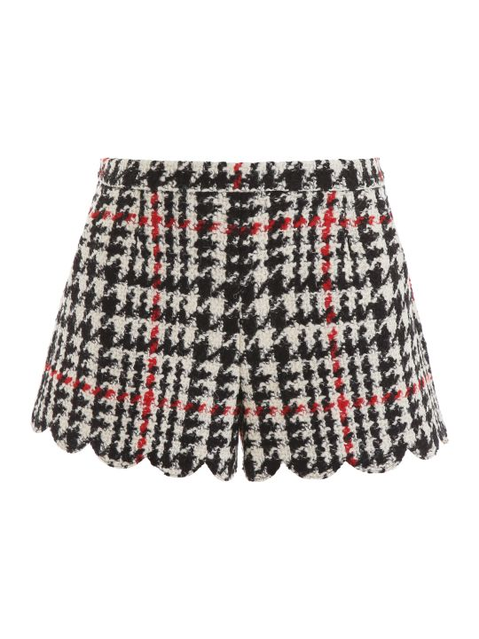 RED Valentino Maxi Houndstooth Shorts