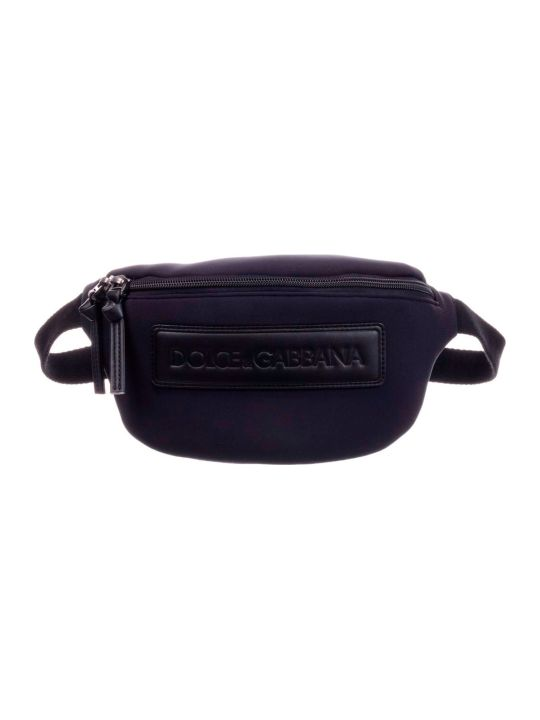 Dolce & Gabbana Blue Baby Bag With Dolce E Gabbana Kids Logo