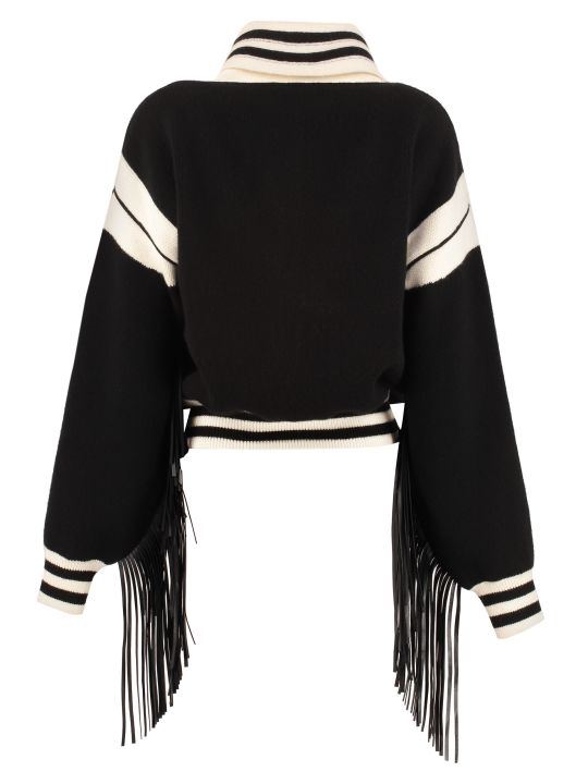 Alanui Cropped-length Knitted Cardigan