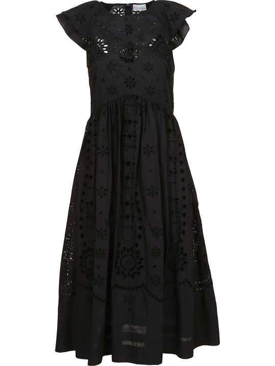 RED Valentino Sangallo Embroidered Voile Dress