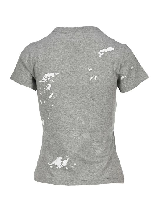 Helmut Lang Paint-splattered T-shirt