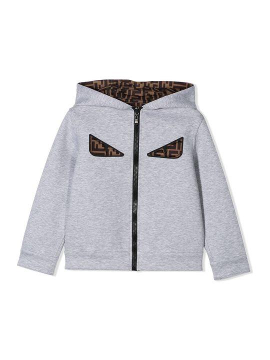 Fendi Grey Zipped Hoodie