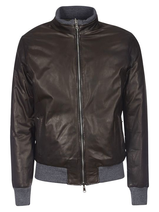 Barba Napoli Classic Leather Jacket