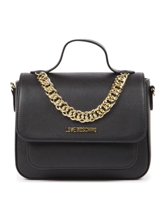 Love Moschino Black Faux Leather Handbag