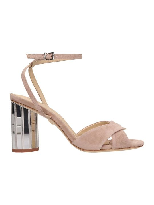 Lola Cruz Nude Suede Sandals