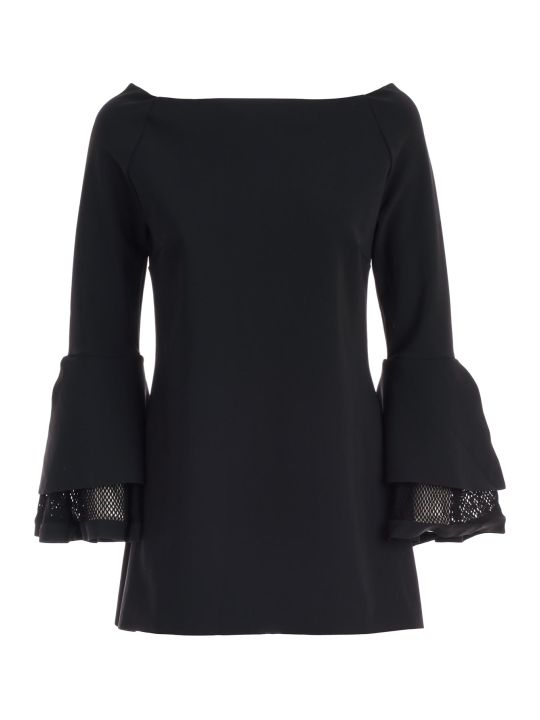 La Petit Robe Di Chiara Boni Dress 3/4s Boat Neck W/net Sleeve