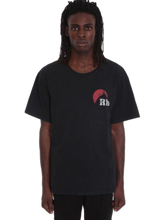 Rhude T-shirt In Black Cotton