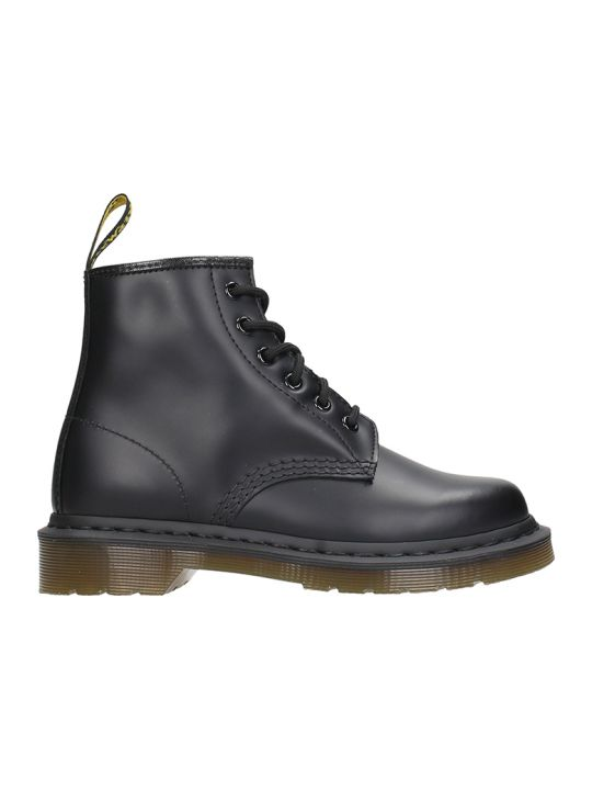 Dr. Martens 6 Eye Black Leather Boots