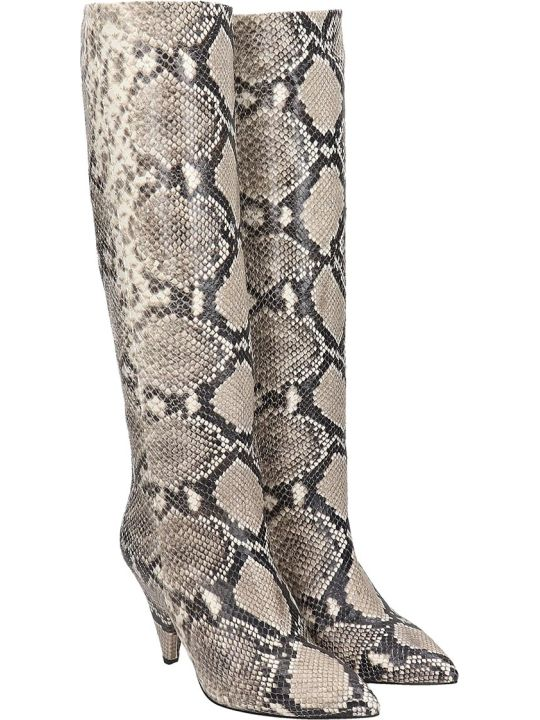The Seller Boots In Animalier Leather