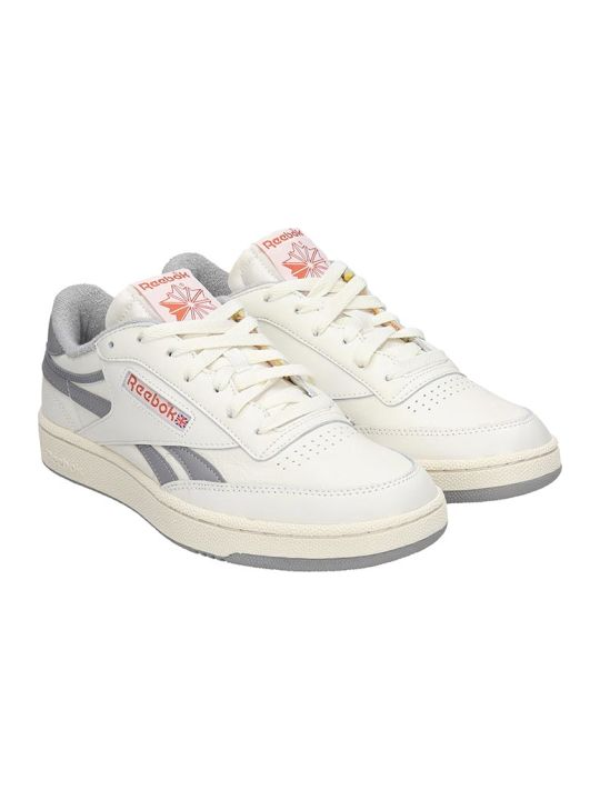 Reebok Club C Revenge Sneakers In White Suede And Leather