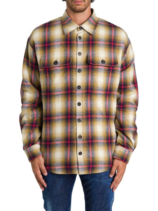 Dsquared2 Check Shirt-jacket With Sherpa Lining