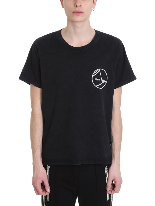 Rhude Engines Black Cotton T-shirt