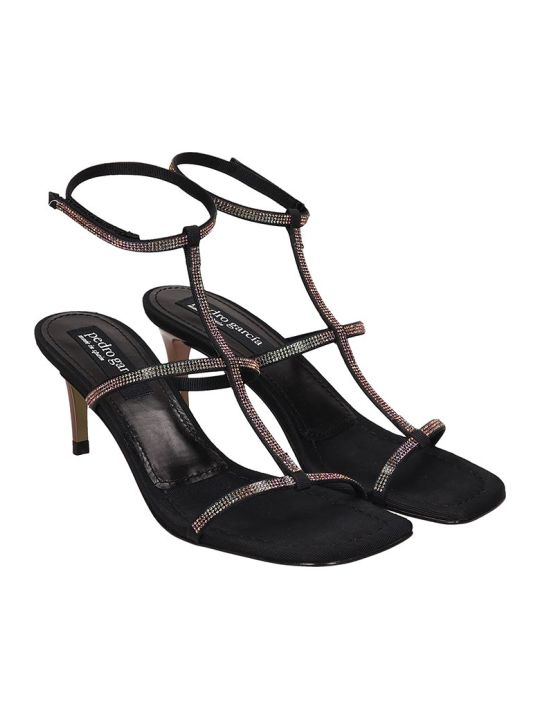 Pedro Garcia Ita Sandals In Black Leather