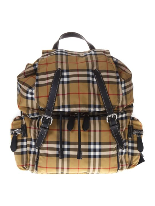 Burberry Large Rucksack Check Pattern Backpack