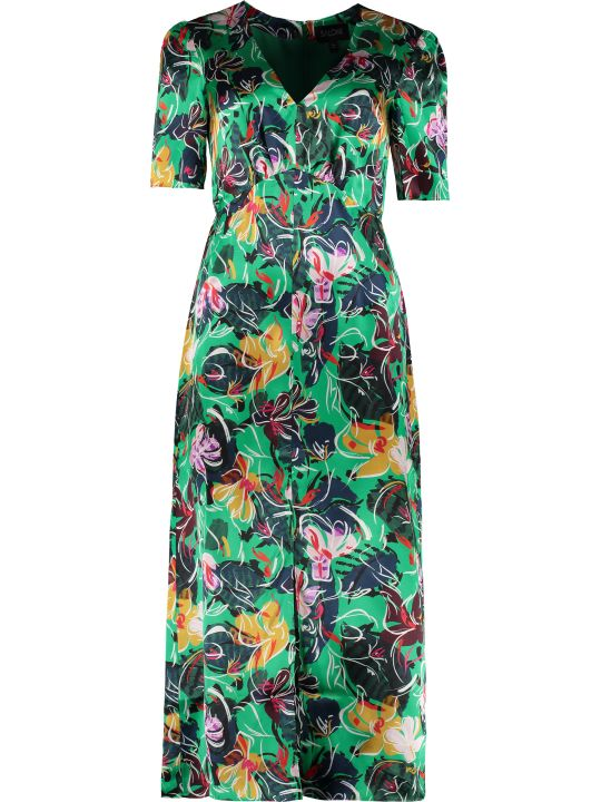 Saloni Eden Printed Satin Dress