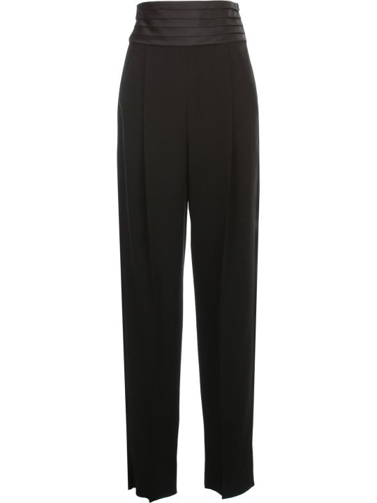 Emporio Armani High Waisted Pants W/satin Band