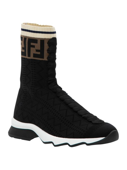 Fendi Rococo Socks Sneaker With Ff Band