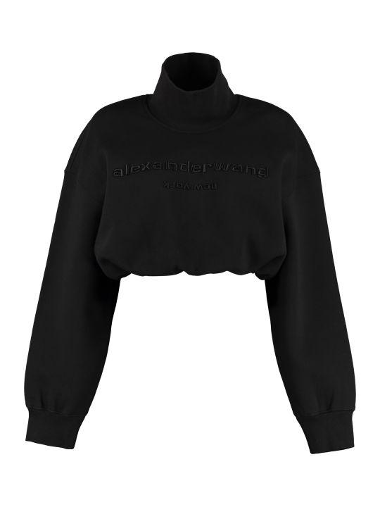 Alexander Wang Cropped Sweatshirt With Logo