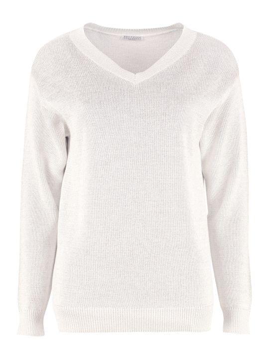 Brunello Cucinelli Cotton V-neck Pullover
