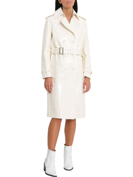 Unfleur White Patent Leather Trench