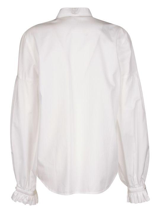 WANDERING Scarf Detail Ruffled Shirt