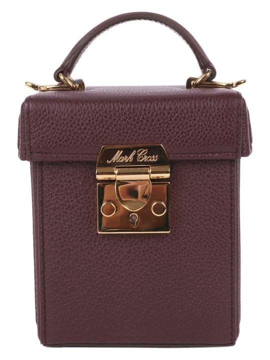 Mark Cross Plum Grace Cube Mini Bag