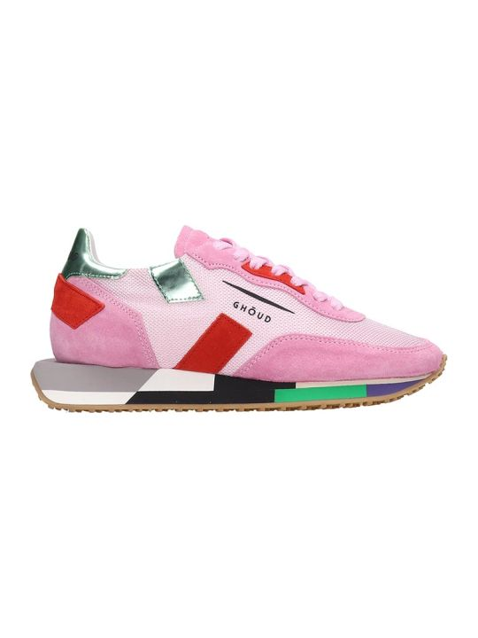 GHOUD Rush Sneakers In Rose-pink Tech/synthetic