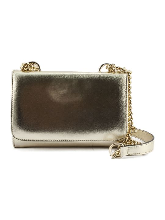 Roberto Festa Platinum Laminated Leather Clutch