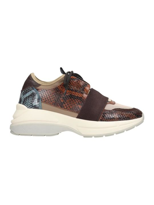 Lola Cruz Sneakers In Multicolor Leather