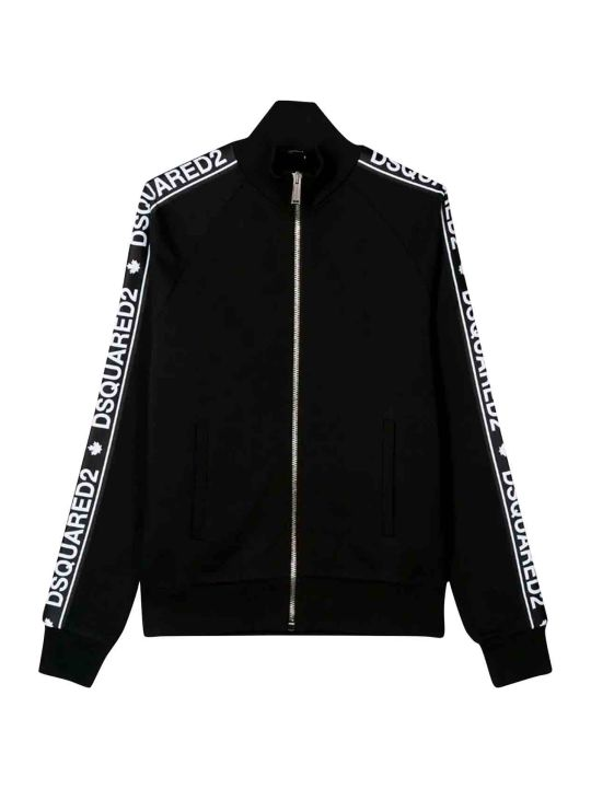 Dsquared2 Black High Collar Sweatshirt Teen