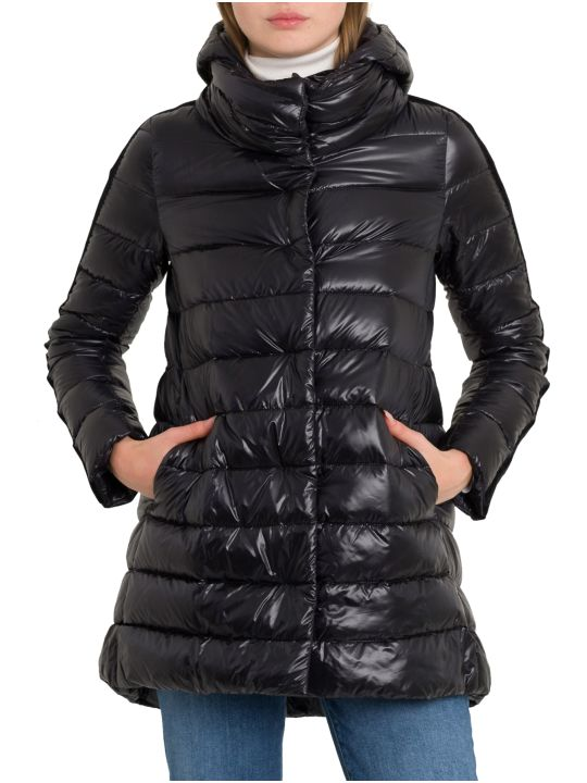 Herno Hoded Padded Coat With Velvet Taping