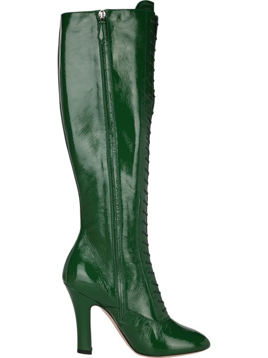 Miu Miu Lace-up Knee-high Boots