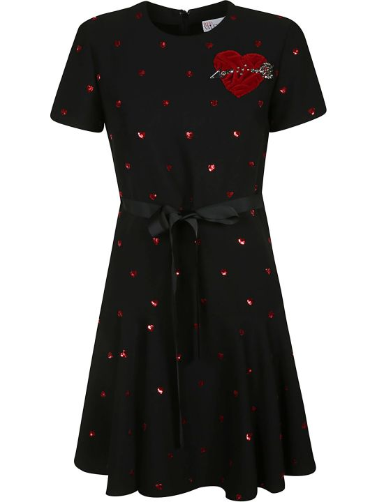 RED Valentino Sequined Heart Dress