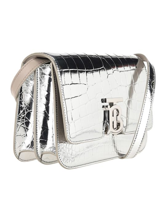 Burberry London Small Metallic Embossed Tb Bag