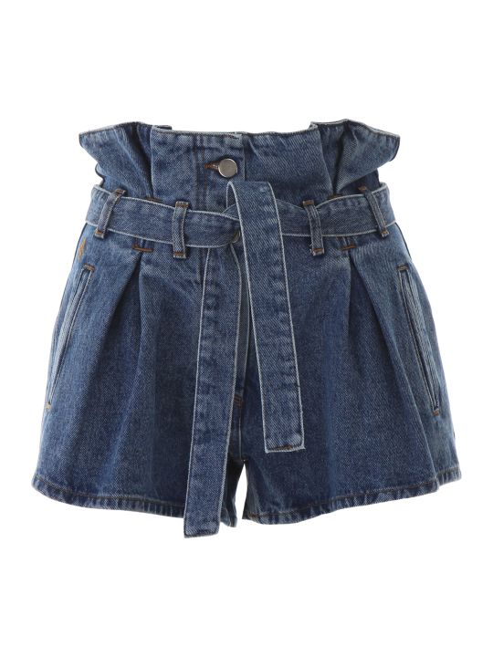 The Attico Denim Shorts