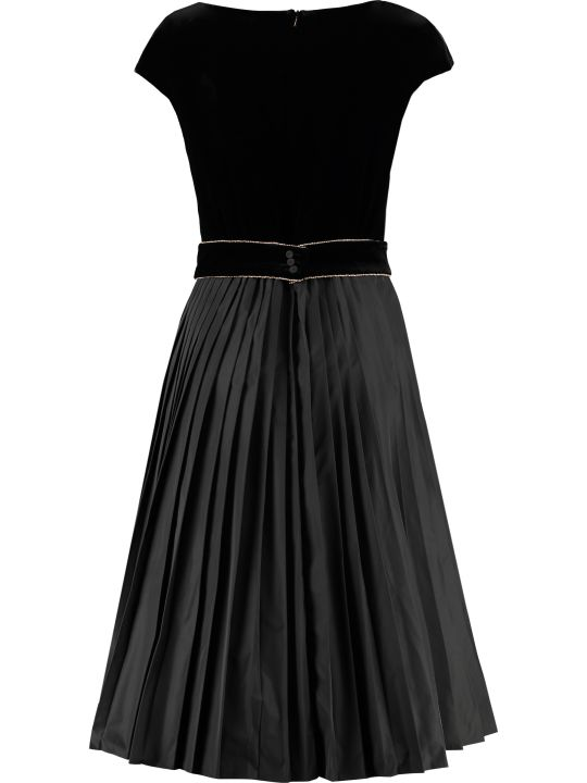 Max Mara Studio Austero Pleated Skirt Dress