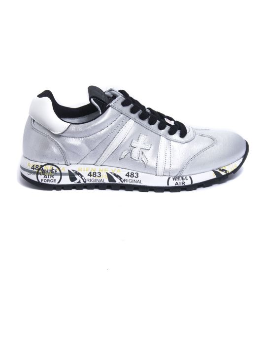 Premiata Lucy Sneaker In Silver Leather