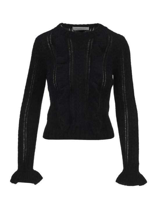 Philosophy di Lorenzo Serafini Philosophy Ruffled Detail Knit Sweater