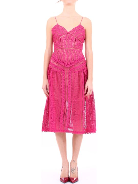self-portrait Dress Fuchsia Lace