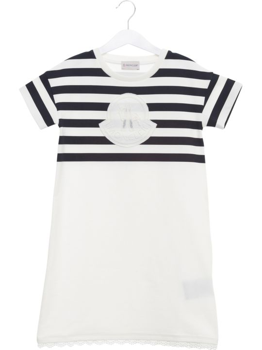 Moncler Striped Logo T-shirt Dress