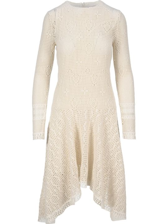 See by Chloé See By Chloe' Wavy Long-sleeve Dress