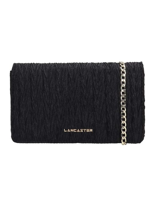 Lancaster Paris Black Fabric Froisse Mini Bag