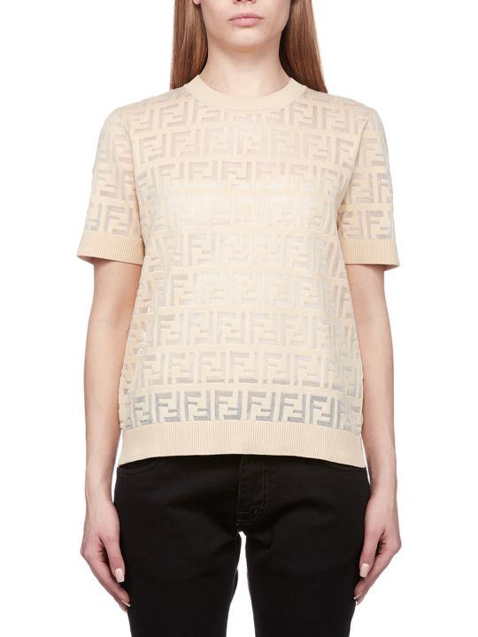 Fendi Motif Knit Top