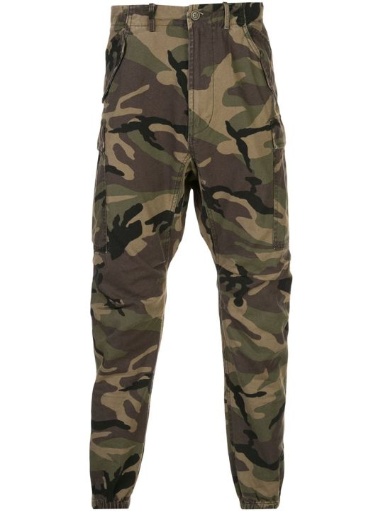 R13 Tapered Camouflage Print Trousers