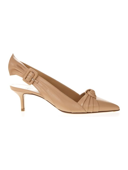 Francesco Russo Nude Leather Knot Sandals