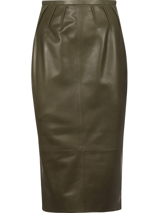 Rochas Leather Skirt