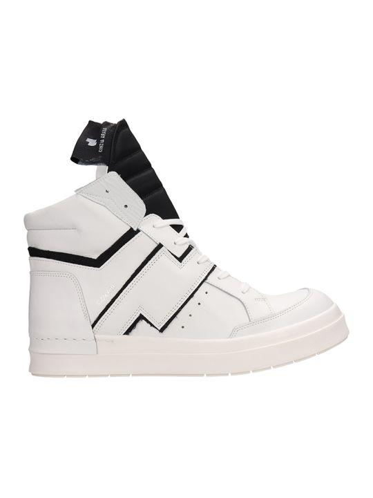 Cinzia Araia White Leather High-top Sneakers