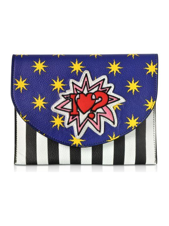 Alessandro Enriquez Miracle Pop Love Leather Clutch