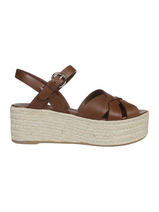 Prada Strappy Platform Sandals